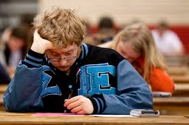Concentration at Cheyenne math competition   James Brosher Photography