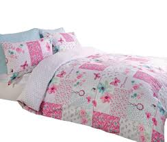 details about art pink patchwork single duvet cover and pillowcase set bed linen girls