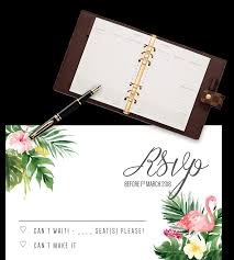 Rsvp Card Template Free Clipart Images Gallery For Free