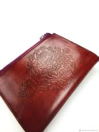 leather purse with embossed lotus wallets business card holders handmade livemaster handmade wallet purse women s
