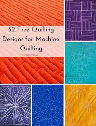 32 Free Quilting Designs for Machine Quilting | FaveQuilts.com &  Adamdwight.com