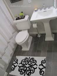 bathroom floor tile plank. Elegant Grey Plank Tile Bathroom - Freckles Chick: Floor Tiles O