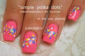 Easy Nail Art | Polka Dot Nails! short nail design tutorial - YouTube