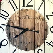 diy large wall clocks large rustic wall clock inch farmhouse clock rustic wall clock large wall