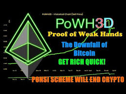 Scam Powh3d P3d Proof Of Weak Hands Can Kill Bitcoin And All Crypto Ponsi