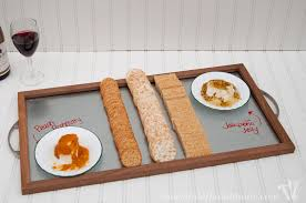 Make a simple and beautiful wood and steel serving tray for the holidays. A  great