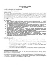 Customer Service Resume Job Description Resume Templates