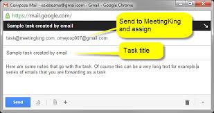 Creating Tasks Via Email Meetingking 2