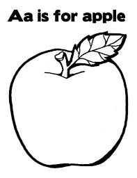 Small Picture A Is For Apple Coloring Page to Inspire to color an image Cool