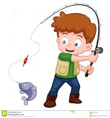 Image result for kids fishing illustration