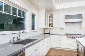 modern light grey quartz countertops