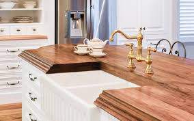 bench tops french provincial kitchen timber benchtop