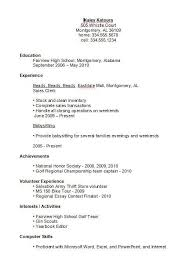Resume Templates For Highschool Students Fascinating High School Resume Template Examples For Highschool Students As Job
