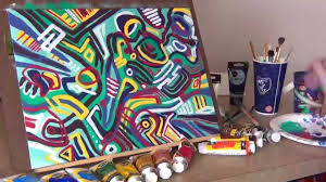 Crazy Painting Crazy Colorful Abstract Painting Time Lapse Youtube