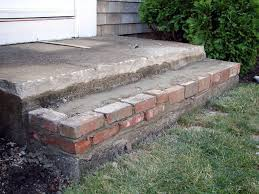 how to build wooden steps over brick steps