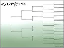 family tree forms printable free history blank genealogy