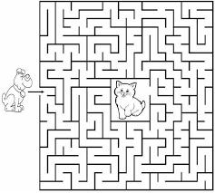 Labirinti Stampare Compiti Per Bambini 7