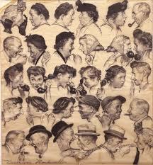 the gossips study art of norman rockwell