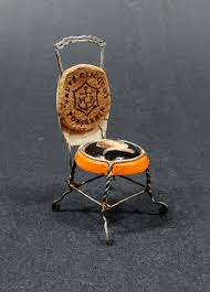 madam veuve cliquot miniature cork cage chair two portraits silver soldered by paul veit art jules next time were together we will do this