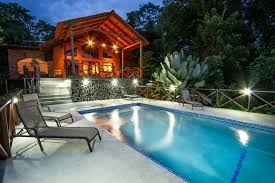 Luxury house in Costa Rica with infinity pool Stock Photo Colourbox
