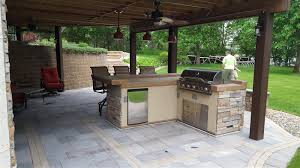 Patio Kitchen Cannon Lake Firepit Patio Outdoor Kitchen Ns Landscapes
