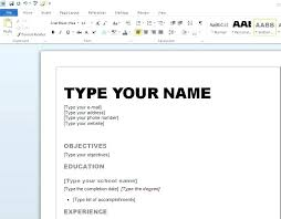How To Make A Resume On Mac Best Solutions Of Free Resume Templates