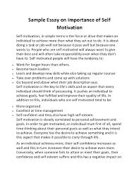 sample essay on importance of self motivation sample essay on importance of self motivation self motivation in simple terms is the force