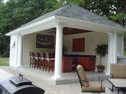 pool house bar pools side design cabana plans