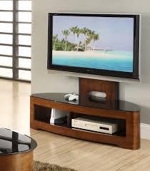 cantilever modern tv stand glass top jf209 walnut or oak