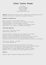 Resume Nanny Skills For 100 Duties Cv Picture Cover Letter