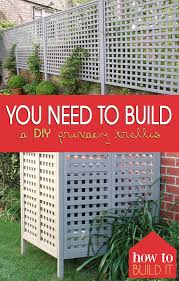 you need to build a diy privacy trellis