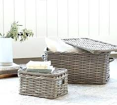 table coffee table basket woven lidded baskets pottery barn next hartford weight