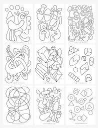 Small Picture Abstract Coloring Pages for Kids Mr Printables