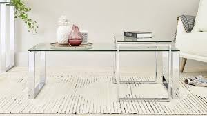 set of glass coffee tables