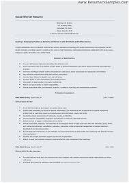 Sample Social Work Resume Objectives Best Resume Objective For