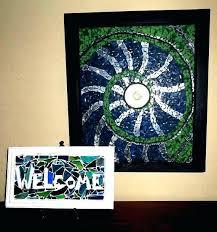 glass wall art and decor stained glass wall art decor nautilus shell mosaic window frame framed hanging glass art wall decor
