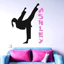 amazon personalized karate wall decal martial arts gifts karate sticker 30 colors sizes handmade