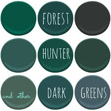 Accent Colors For Green Benjamin Moore Dark Greens Absolute Green Bavarian Forest