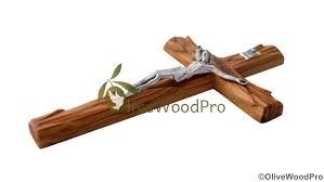 10 large bethlehem olive wood cross catholic crucifix wall standing cross jerum