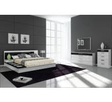 bedroom furniture black and white. Draco Black And White Contemporary Bedroom Furniture Sets | Xiorex O