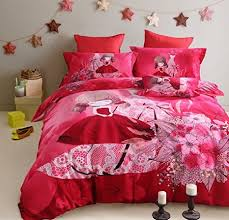 Get Quotations  Lt Twin Full Queen Size 100% Cotton Red Girls Flowers  Floral Leaves Dresses for Girls
