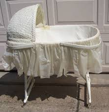 Antique Baby Cribs Vintage Baby Bassinets Set With Iron Bassinet Base And Small