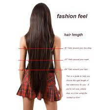 Hair Length Chart Women S Noilite Long Women Clip In One Piece Hair Extensions 18 30 Inches Straight Black Brown Red Auburn Synthetic Hairpiece
