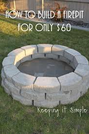 diy patio with fire pit. How To Build A DIY Fire Pit For Only $60 Diy Patio With