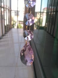 details about 12pcs crystal chandelier pink hanging teardrop prism glass pendants bead