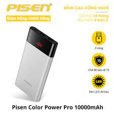 Sạc dự phòng Pisen Color Power Pro 10000mAh - TS-D212 - Hàng chính hãng giá  cạnh tranh