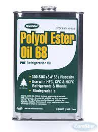 Polyol Ester Oil Poe For A C 68 300 Sus 1 Quart 12