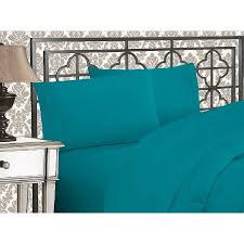 turquoise sheet set king clearance super soft 1500 tc sheet set king turquoise walmart com