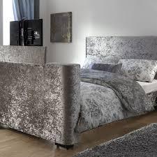 newark king size tv bed grey crushed