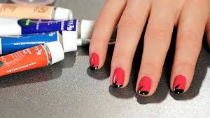 How to Do a Stripe Nail Art Design with Tape | Howcast - The best ...